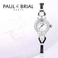 폴브리알(PAUL BRIAL) 여성시계(PB8001WTBK/가죽밴드)