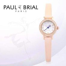 폴브리알(PAUL BRIAL) 여성시계(PB8002RGPK_R/가죽밴드)