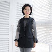마담4060 엄마옷 단정한정장조끼-ZVE002006-