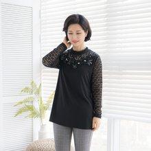 마담4060 엄마옷 로맨틱한시스루티셔츠-ZTE002090-