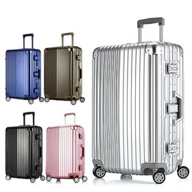 [타임워커]TWP-802 고급 알루미늄 메탈프레임 24사이즈 화물용 여행가방