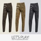 [마운틴가이드]겨울 등산복/단체복/작업복/클라이밍팬츠/남성 기모 스판 골덴바지 TXM-P7417