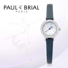 폴브리알(PAUL BRIAL) 여성시계(PB8002WTNV_A/가죽밴드)