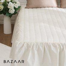 (슈퍼싱글)바자르 광목 누빔 침대스커트