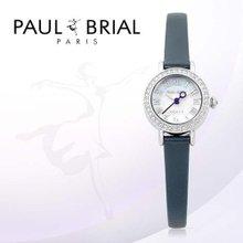 폴브리알(PAUL BRIAL) 여성시계(PB8002WTNV_R/가죽밴드)