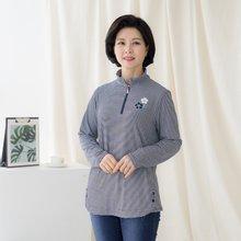 마담4060 엄마옷 줄무늬꽃티셔츠-ZTE002087-