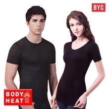 [1+1+사은품][BYC]보디히트 반팔 남자/여자 티셔츠/내복상의/언더셔츠/소프트터치 보온내의