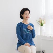 마담4060 엄마옷 러블리자전거티셔츠-ZTE002086-