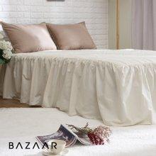 (킹)바자르 광목 누빔 침대스커트