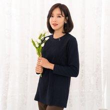 마담4060 엄마옷 라운드단추줄티셔츠-ZTE911004-