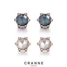 [끄란느] 러프다이아몬드 14K귀걸이_C12EG011