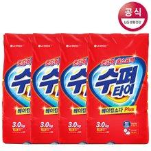 [수퍼타이] 베이킹소다 플러스 세탁세제 리필 3kg x4개 분말세제