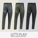 [마운틴가이드]겨울 등산복/단체복/작업복/클라이밍/기능성 남성 기모 패딩 등산바지 TXM-P7414
