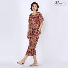 나염 인견 상하세트홈웨어 -HW8062513-모슬린 엄마옷