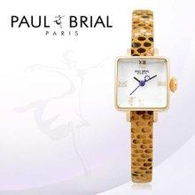 폴브리알(PAUL BRIAL) 여성시계(아작시오/PB8004GDYE/가죽밴드)