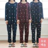 보들보들 꿀잠예약 피치기모 상하세트 잠옷 3+1