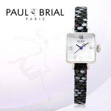폴브리알(PAUL BRIAL) 여성시계(아작시오/PB8004WTBK/가죽밴드)