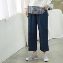 [웬디즈갤러리]틴틴 스트링 와이드 청바지 OPT002