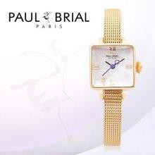 폴브리알(PAUL BRIAL) 여성시계(PB8004GD메쉬/팔찌밴드)