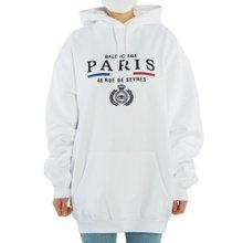 [발렌시아가] 파리 플래그 578135 TGV49 9000 여자 기모 후드 긴팔 맨투맨 티셔츠