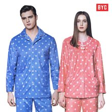 [BYC]남녀 프리미엄 극세사 수면잠옷세트/커플잠옷/겨울 잠옷