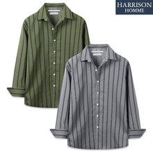 [해리슨] 세줄 오픈카라 긴팔 셔츠 MET1504