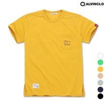 [앨빈클로] AST-3294 BREAK 자수 포켓 반팔 티셔츠