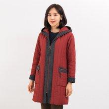 마담4060 엄마옷 따뜻한배색후드점퍼-ZJP911001-