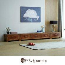 해찬솔 소나무 통원목 평창뜰거실장_본장+1단장+1단장/원목거실장/TV장식장/거실장