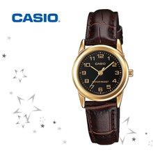 카시오 LTP-V001GL-1B 여성 가죽 손목 시계