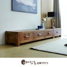 해찬솔 소나무 통원목 평창뜰거실장_본장+1단장/원목거실장/TV장식장/거실장