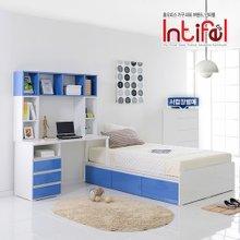 [인티펠] 엑스웰 자녀방 1200 책상침대세트(매트별매) WL091