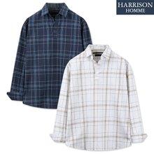 [해리슨] NJ 모모 체크 긴팔 셔츠 MET1857