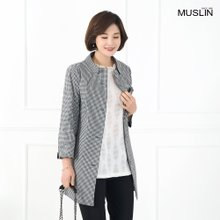 엄마옷 모슬린 유니크 체크 자켓 JK904109