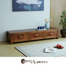 해찬솔 소나무 통원목 평창뜰거실장_본장/원목거실장/TV장식장/거실장