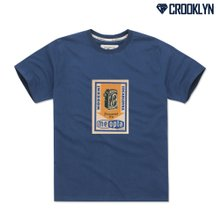 [크루클린] TRS-063 빈티지 포스터 나염 반팔 티셔츠