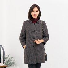 마담4060 엄마옷 러블리체크코트-ZCO911001-