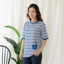 마담4060 엄마옷 줄무늬고양이티셔츠-ZTE005021-