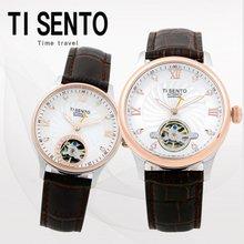티센토(TISENTO) 남녀손목시계(TS50301CBBR/가죽/오토매틱)택1