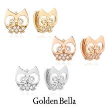 [골든벨라]14K 부엉이 원터치 귀걸이