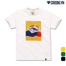 [크루클린] TRS-066 아트그래픽 전사 나염 반팔 티셔츠
