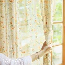 [바자르] 퓨어블룸 쉬폰 가리개 커튼(창문형/135x150)1장+커튼봉