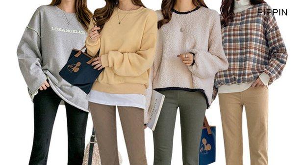 ★무료배송/균일가★[피핀]기모티셔츠 10종 택1