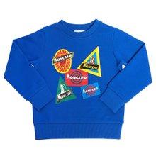 [몽클레어키즈] 로고 8028050 809B3 711 8A10A 키즈 긴팔 기모 맨투맨 티셔츠