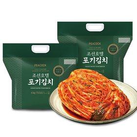 [피코크] 조선호텔 포기김치 4kg*2팩 (총 8kg) (100년의 역사 조선호텔에서 만든 프리미엄 김치!)
