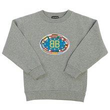 [발렌시아가 키즈] BB 플래그 558145 THV43 1241 키즈 긴팔 기모 맨투맨 티셔츠
