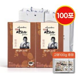 [김오곤원장] 진한 쌍화차 15g x 100포 전통차 꿀분말함유 건강차 선물세트