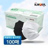 일월 클린 페이스 일회용 마스크 100매/MB필터 멜트브라운